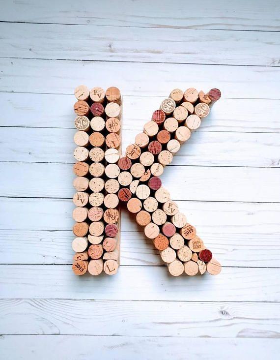 Vino carta de corcho corcho del vino monograma de 12