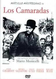 DVD CINE 2434 - Los camaradas (1963) Italia. Dir.: Mario Monicelli. Drama. Cine social. S.XX. Neorrealismo. Sinopse: a acción desenvólvese a finais do século XIX nunha fábrica téxtil de Turín. Os obreiros reivindican a redución da xornada laboral de 14 a 13 horas, para evitar os accidentes que provoca o cansazo. A aparición do estraño e entrañable profesor Sinigaglia (Marcello Mastroianni) fai que a protesta desemboque en folga.