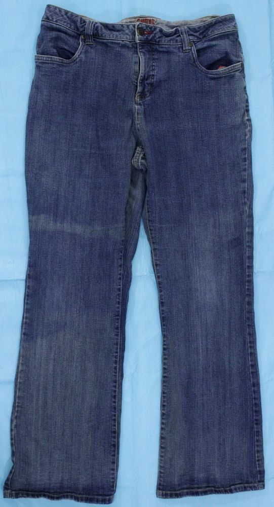 Smiths Blue Jeans Sz 14 Womens Dungarees Stretch Elastic #Smiths #Jeans