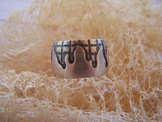 silver handmade fire ring by archegono on Etsy