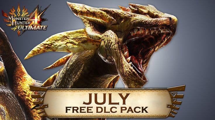 Monster Hunter 4 Ultimate - July DLC Pack   14 New quests 5 New weapons 3 Complete armor set 1 Palico weapon 1 Palico armor set 1 Bonus Palico: Brown Pal 3 Guild Card backgrounds 7 Guild Card titles