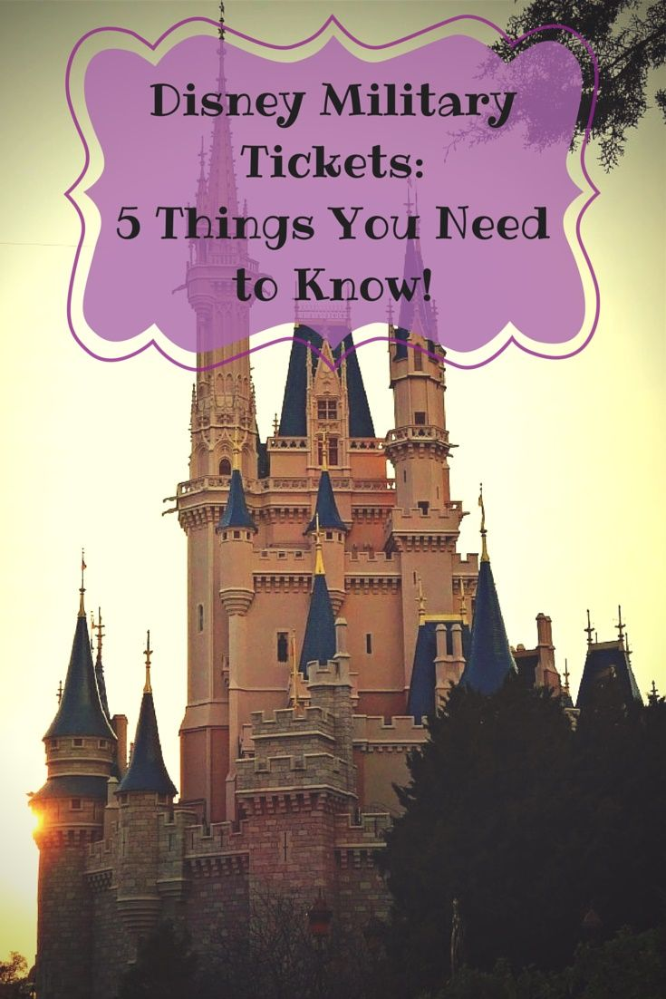 Disney World tips and discounts for military personnel.