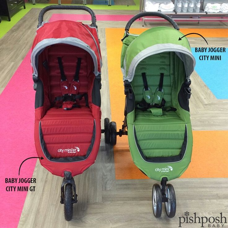 Here's one of our most common stroller questions: What's the difference between the @babyjogger City Mini and the City Mini GT? Both of these strollers have the easy, one-handed pull-to-close on the seat that make Baby Jogger a popular choice, smooth, excellent handling, and a huge extendable canopy. Check out our entire Baby Jogger collection to find out more about their main differences!  http://www.pishposhbaby.com/baby-jogger.html
