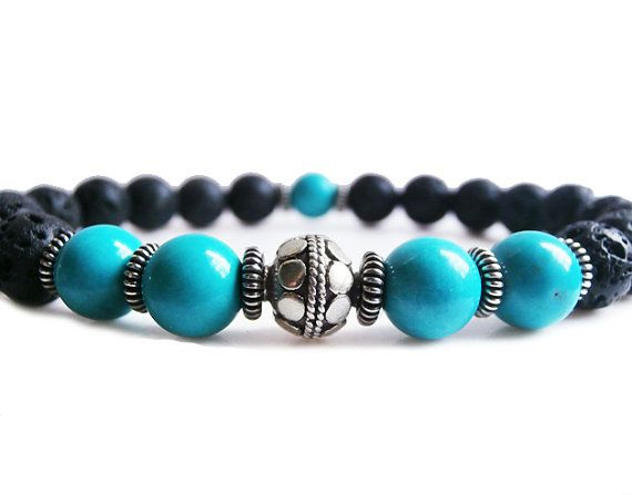 bracelet homme turquoise best 25 bracelet perle homme ideas only on 9629