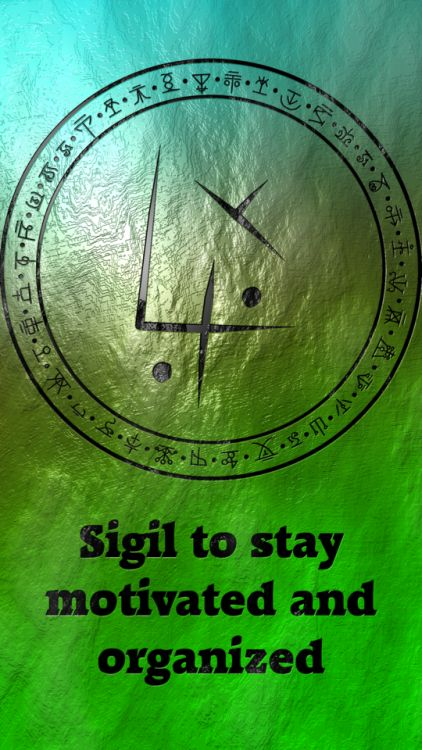 Sigil to stay motivated and organized