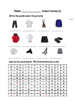 EAL/ESL/ELD/EFL Vocabulary worksheets and games for Initial Learners