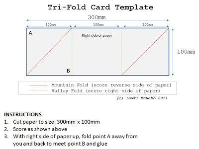Tri Fold Cards Templates Zrom