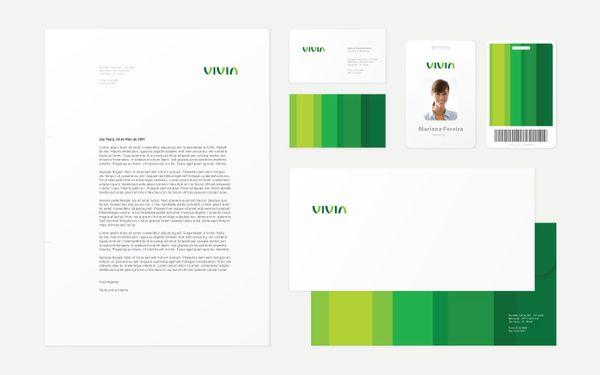 Corporate and brand identity Vivia by Roger Oddone, via Behance