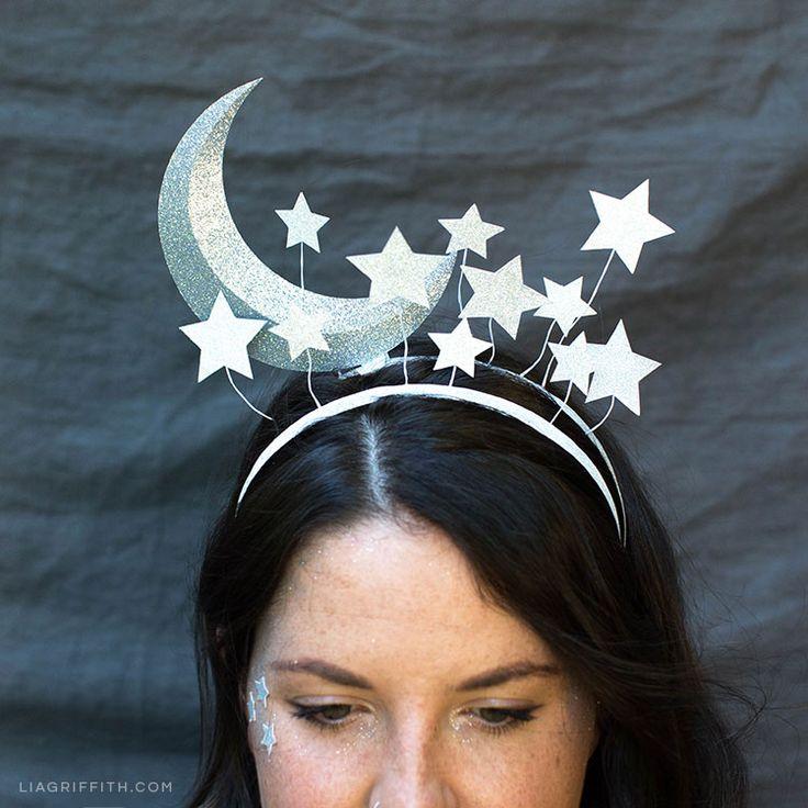 DIY Sun and Moon Headbands for Halloween