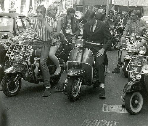Mods on scooters in London, 1979 | © photo by Paul Wright Mo… | Flickr
