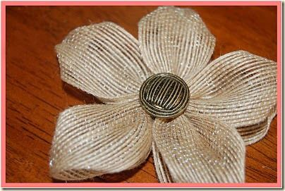 burlap flowers making it yourself | Click Here to see the tutorial on how to make these flowers.