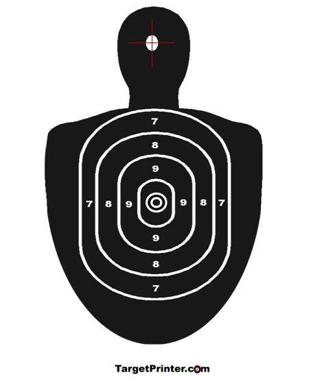 Printable Target Human Silhouette Gun Shooting Range