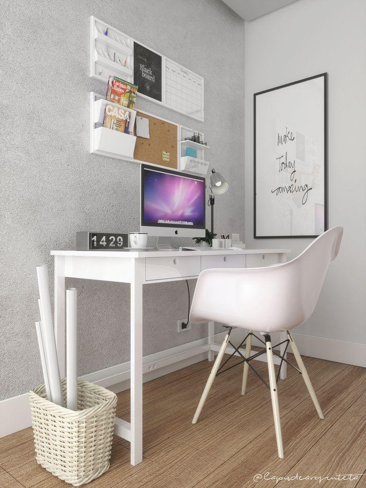 ✏️ Projeto de Estudo  Home Office | Cores Neutras | Sketchup + Vray + Photoshop #homeoffice #minimal #minimalista #cantinho #decoração #decor #inspiração #escritorio #ideiasparahomeoffice #homeofficedisplay