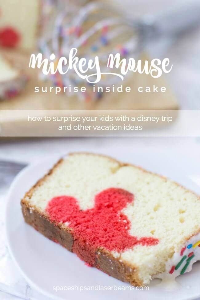 Mickey Mouse Surprise Inside Cake | Spaceships and Laser Beams