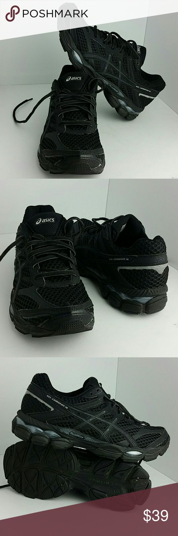 ASICS GEL-CUMULUS 16 WOMEN SHOES VERY CLEAN INSIDE-OUT   SKE # KM4 asics Shoes Athletic Shoes