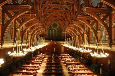 Harvard Library - é o conjunto de bibliotecas mais antigo dos Estados Unidos, com seu início marcado no ano de 1638, antes mesmo que os EUA fossem considerados uma nação independente.