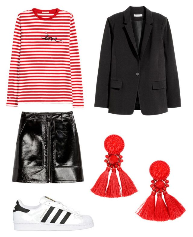 """""""Untitled #229"""" by stinasolheim on Polyvore featuring H&M and adidas Originals"""