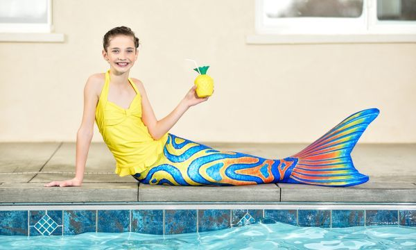 Kids can swim in these mermaid tails, made from a polyester/spandex blend with a four-way stretch. They're open at the bottom so it's easy to walk; prices start at $45 at finfunmermaid.com.