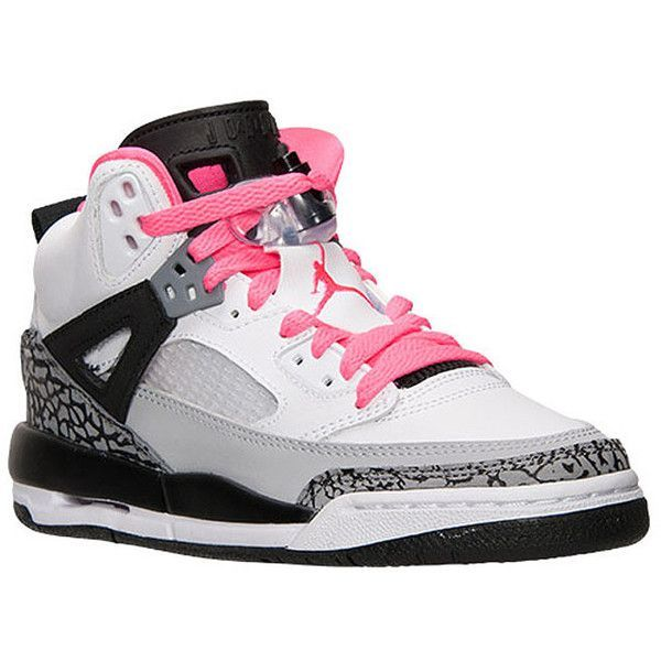 "Jordan Spizike GS ""Hyper Pink"" - KicksOnFire.com ❤ liked on Polyvore featuring shoes, jordans, nike and sneakers"