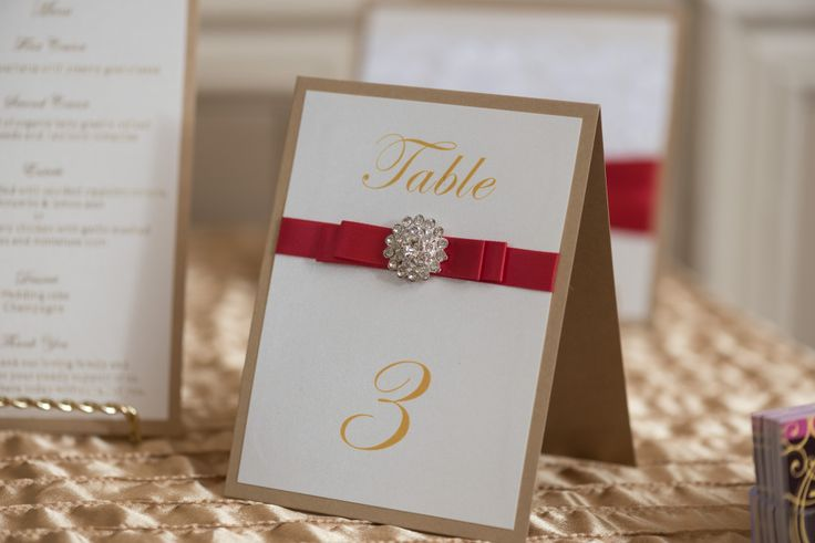 Bespoke The Wedding Event, Regal Red & Gold Wedding, Wedding Personalized Stationary, Wedding Graphic Design, Table Numbers
