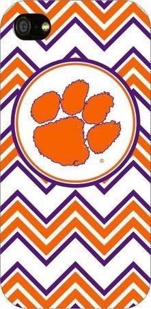 Clemson Tigers Chevron Print iPhone 5 Case