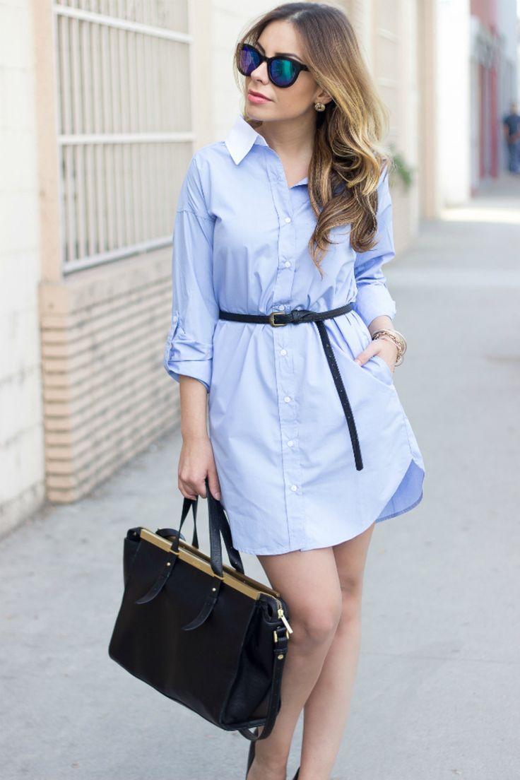 1000  ideas about Blue Shirt Dress on Pinterest  Blue shirts ...