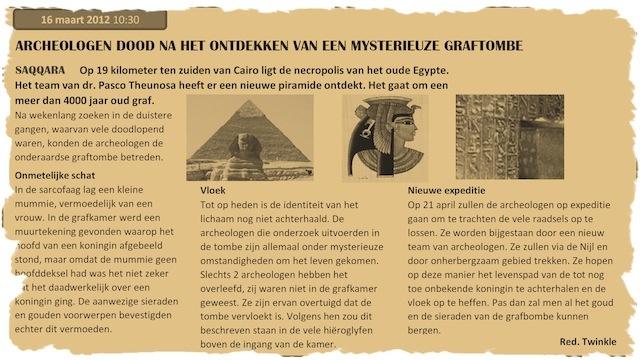 kinderfeestje het Oude Egypte