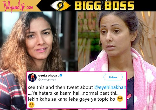 Bigg Boss 11: While TV biggies are HATING Hina Khan; Geeta Phogat steps out in defense – check out tweet #FansnStars