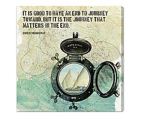 Stampa da parete canvas su legno The journey - 51x51x4 cm