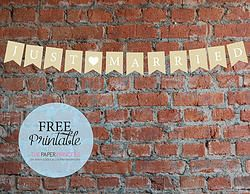 FREE WEDDING PRINTABLE: Just Married Banner
