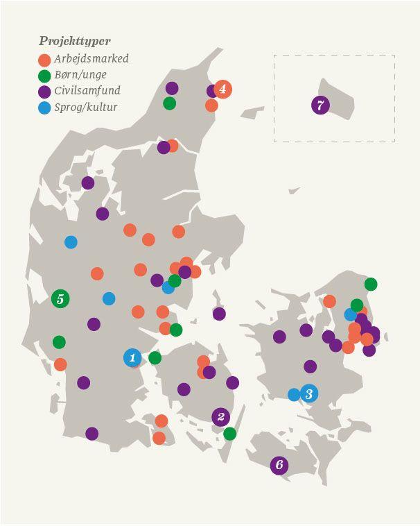 Mandag Morgen viser med Integrationens Danmarkskort 100 steder med gode integrationshistorier.