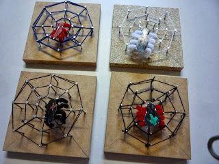Klasnieuws 3de en 4de leerjaar: Techniek in de klas: we timmeren een spinnenweb !!