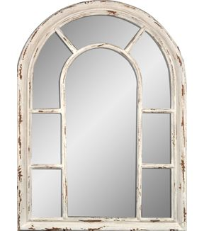 Hudson 43™ Arched Mirror-Distressed Cream