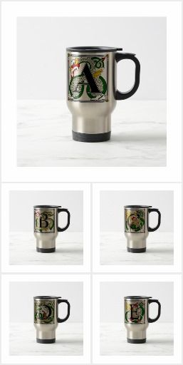 CELTIC LETTERS STEINS AND COFFEE MUGS