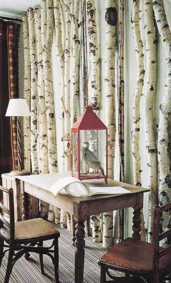 Creative ways to decorate with branches love this birch for Creative way to decorate your walls