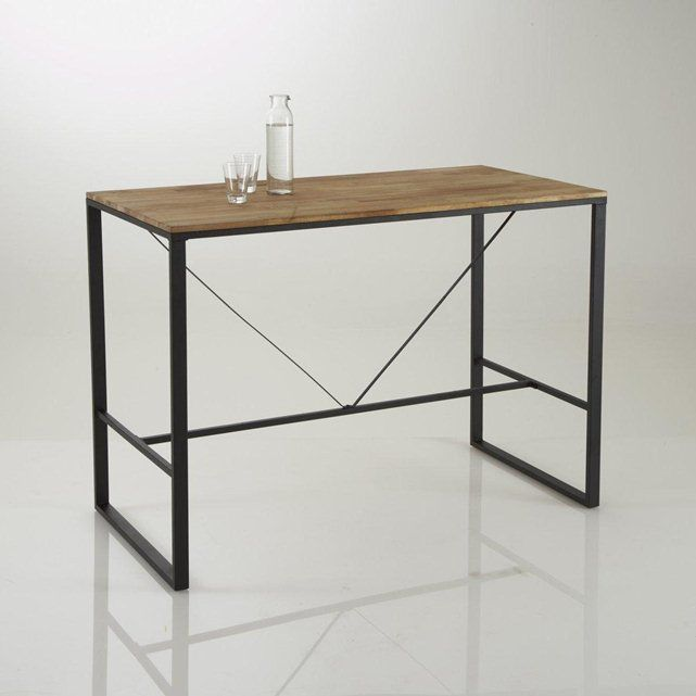 Image table bar haute hiba la redoute interieurs for Table la redoute