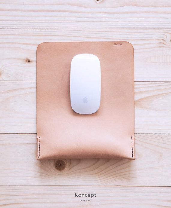 Leather Mouse Pad / Comfortable Wrist Rest / Fine & by KonceptHK #landcholidaygg #techgifts