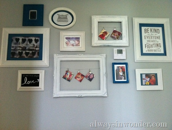 Gallery Wall from Jennifer at http://www.alwaysinwonder.com/2012