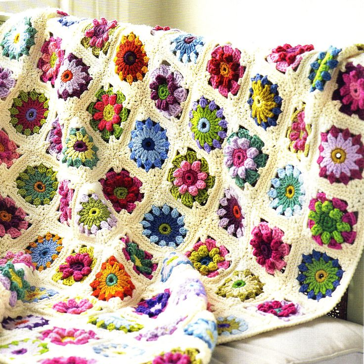 Vintage 70s Yellow Daisy Flower Afghan Throw Blanket Flower: 21 Best Flowers In The Snow Crochet Blankets Images On