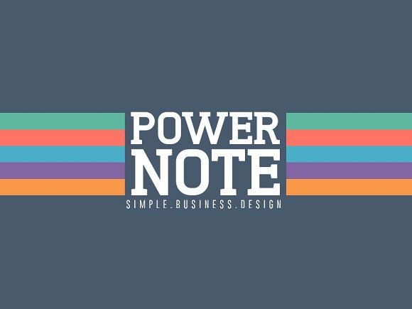 PowerNote PowerPoint Presentation by Humble Pixels on @creativemarket