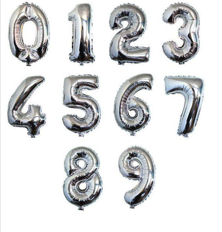 Купить товар1 P 32 дюймовый Большой Серебряный Номер Шар Алюминиевой Фольги Гелиевые Шары День Рождения Свадьба Украшения Праздничные Поставки в категории Шарикина AliExpress. 40inch Large Blue Pink Number Foil Helium Balloons Birthday Party Wedding New Year Celebration Decoration Balloons Class