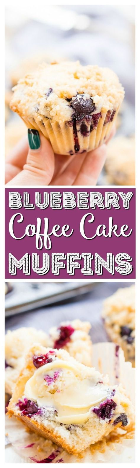 Blueberry Coffee Cake Muffins are made with tangy buttermilk and delicious blueberries for a yummy breakfast muffin topped with a sugary butter crumble. via @sugarandsoulco
