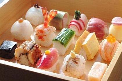 bite-sized sushi @豆寅 mametora - kyoto,japan