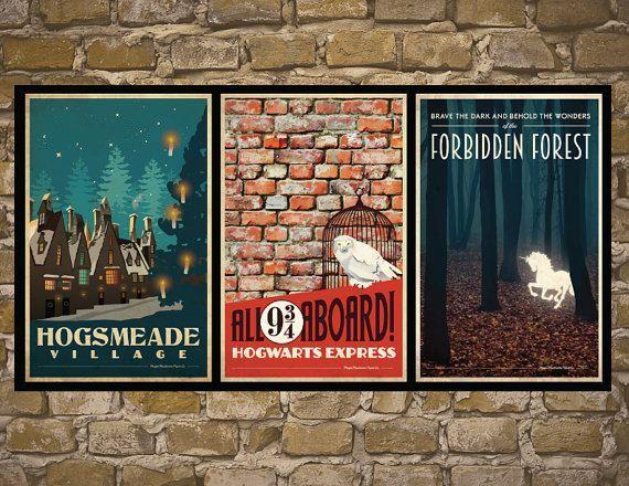 HARRY-POTTER-Reihe von Poster-Jahrgang 3 Reisen Harry von MMPaperCo