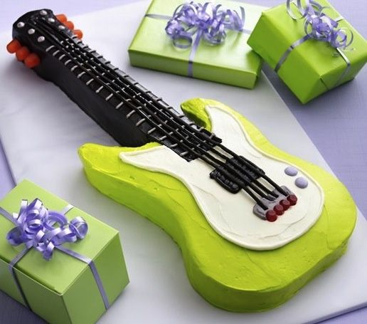 kids electric guitar cake - - Yahoo Image Search Results