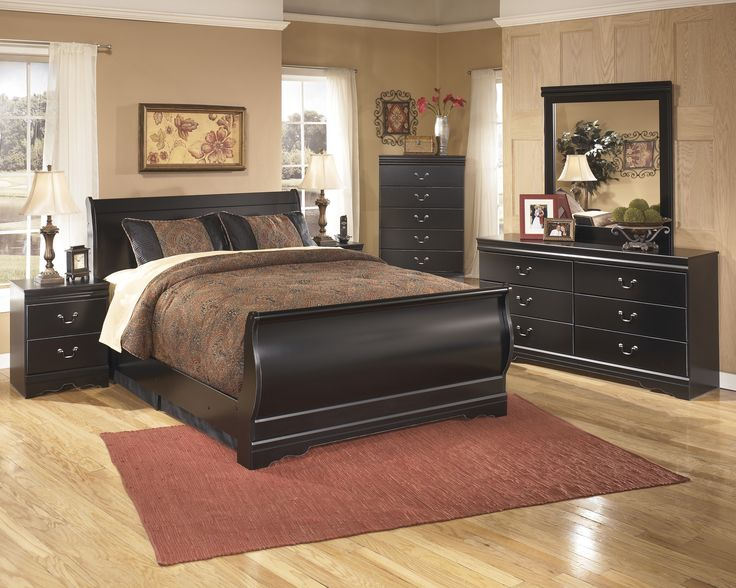 black expresso high gloss polished mahogany wooden king size bed combined with oversized bedroom vanity with - High King Size Bed Frame