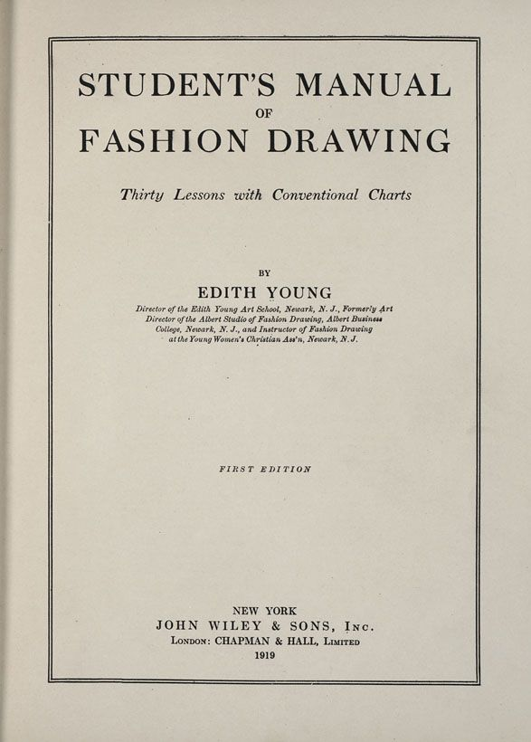 Student's Manual of Fashion Drawing, Edith Young, 1919; University of Wisconsin Digital Collections