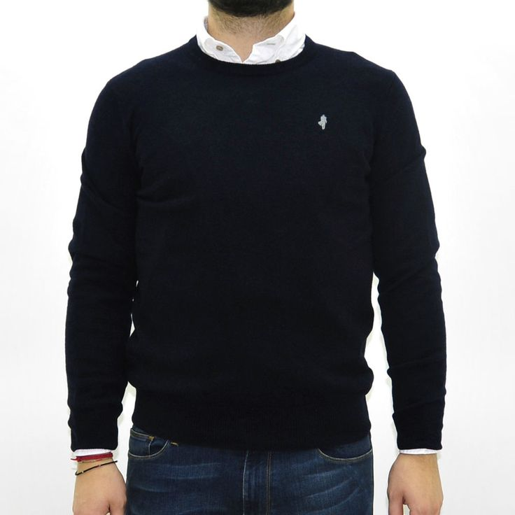 4762 Maglione uomo MCS MARLBORO CLASSICS blu girocollo sweaters man blu