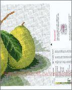Вышивка крестом, схемы Груши зелёные. Обсуждение на LiveInternet - Российский Сервис Онлайн-Дневников