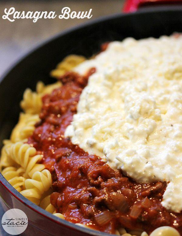 Lasagna Bowl So Much Easier To Make Than Traditional Lasagna And Tastes Just As Delicious